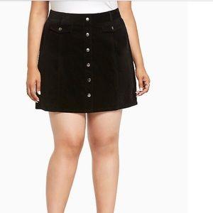 NWT Torrid Black Skirt